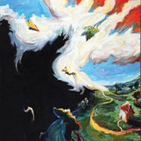 """In flight: Chuck Connelly's """"Ascending Man"""" (1986)"""