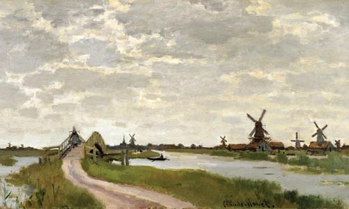 "Claude Monet's ""Windmills Near Zaandam"" (detail), from The Road to Impressionism © The Walters Art Museum"