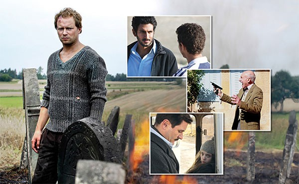 Clockwise, from left: Aftermath, Bethlehem, Hunting Elephants and The German Doctor