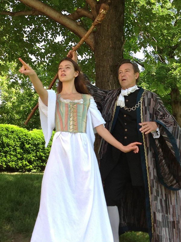 Colleen Pulawski and Ron Siebert in Unseam'd Shakespeare's The Tempest - PHOTO COURTESY OF ANDY KIRTLAND