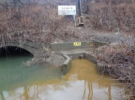 Combined sewer overflow during wet weather event in the winter of 2014 - PHOTO BY ASHLEY MURRAY