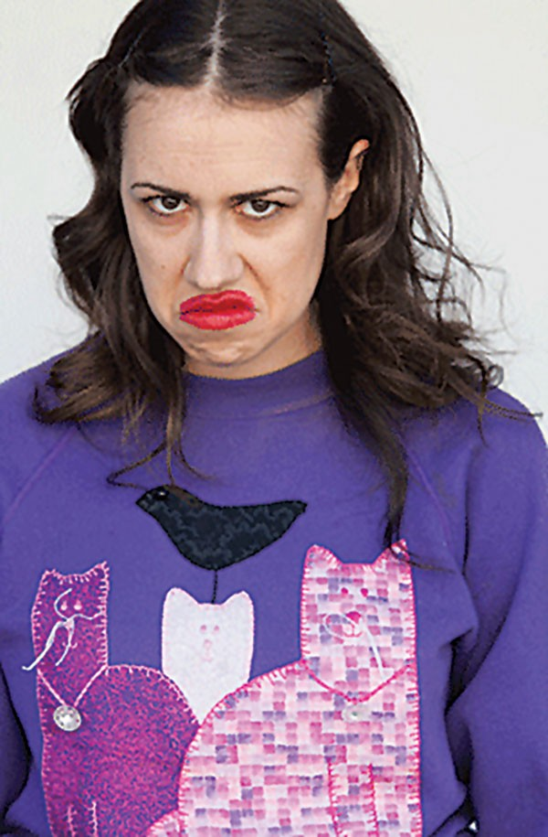 Comedian Colleen Ballinger's overly made-up, sweatpants-clad alter-ego Miranda Sings