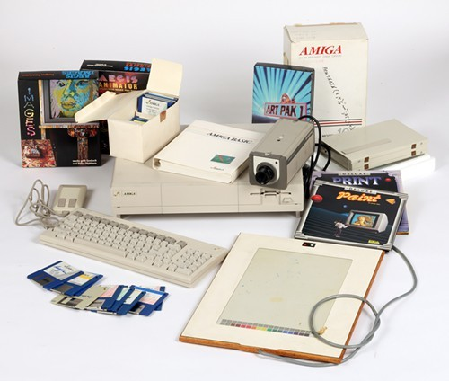 Commodore Amiga computer equipment used by Andy Warhol 1985-86, courtesy of The Andy Warhol Museum