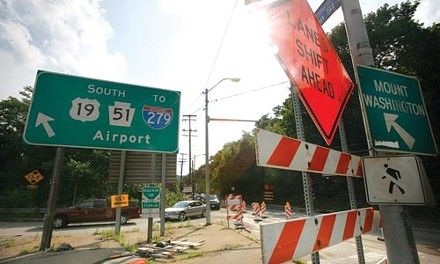 Construction signs will cover the West End until November. - HEATHER MULL