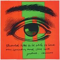 "IMAGE COURTESY OF CORITA ART CENTER, LOS ANGELES - Corita Kent's ""E eye love"" (1968)"