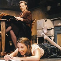 Courtney Neville (left) and Jennifer Wysong in <i>The Diary of Anne Frank</i>, at Playhouse, Jr.