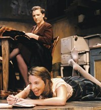 PHOTO BY DREW YENCHAK - Courtney Neville (left) and Jennifer Wysong in The Diary of Anne Frank, at Playhouse, Jr.