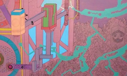 """Cryptic, giant: """"The Engine of the Earth"""" (detail), by Chris Kardambikis"""