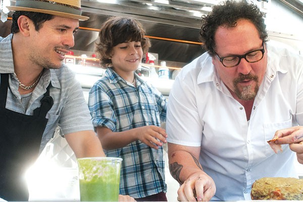 Cubano kings: John Leguizamo, Emjay Anthony and Jon Favreau