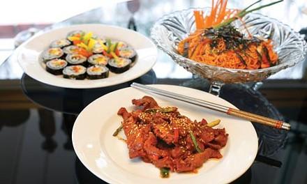 Daiji bulgogi with kimchi and spicy noodle salad - HEATHER MULL