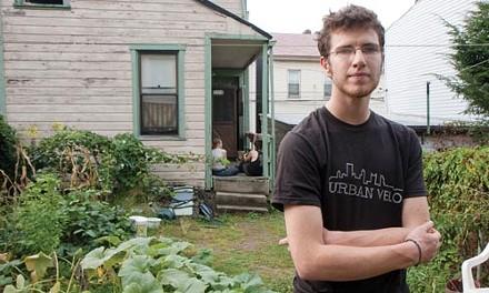 Dan McCloskey in the yard of his Lawrenceville home - JOHN ALTDORFER
