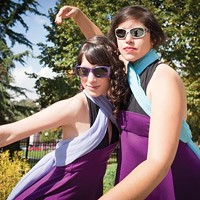 Dancers Torey Bocast (left) and Anna Bender are among the performers at Figment.