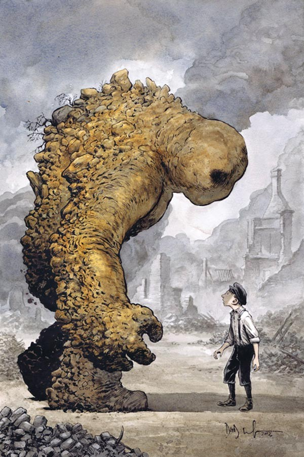 Dave Wachter's cover art for Breath of Bones: Tale of the Golem