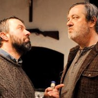 David Cabot (left) and Philip Winters in the REP's <i>The Lonesome West</i>