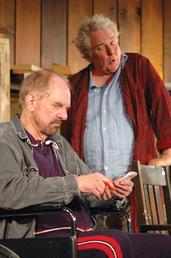 "David Crawford (left) and Roger Jerome in ""Mum's the Word,"" part of Elder Hostages at Pittsburgh Playwrights"