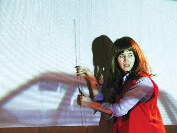 David Nakamoto's photo of a Miranda July performance called The Swan Tool, part of Alien She