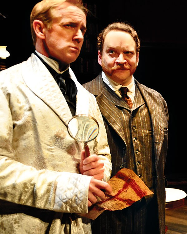 David Whalen (left) and Justin R.G. Holcomb in The Crucifer of Blood.