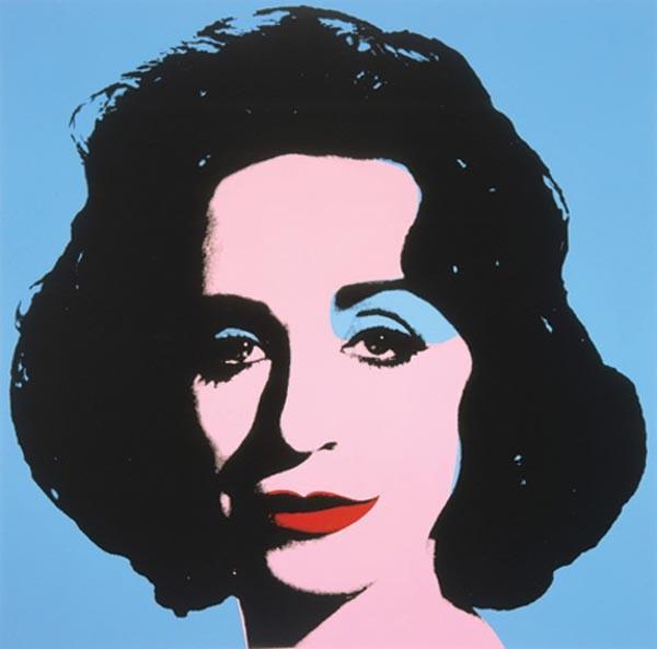 "Deborah Kass' ""Blue Deb"" (2000)."