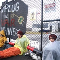 Robotics center protesters deal for community service