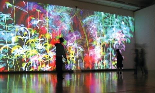 "Digital garden: Miguel Chevalier's ""Ultra-Nature."""