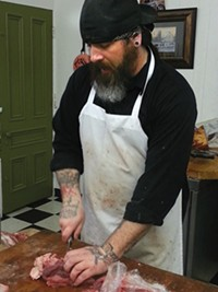 D.J. Smulick, of D.J.'s Butcher Shop in Bloomfield