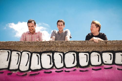 Do you believe in love? Future Islands (from left, Samuel T. Herring, Gerrit Welmers, William Cashion) - COURTESY OF MIKE VORASSI