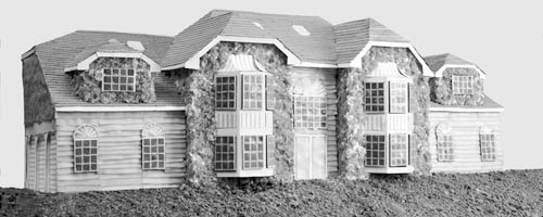 """Do you want fries with that? Lee Stoetzel's """"McMansion 2"""" is made primarily out of ground beef and cheese."""
