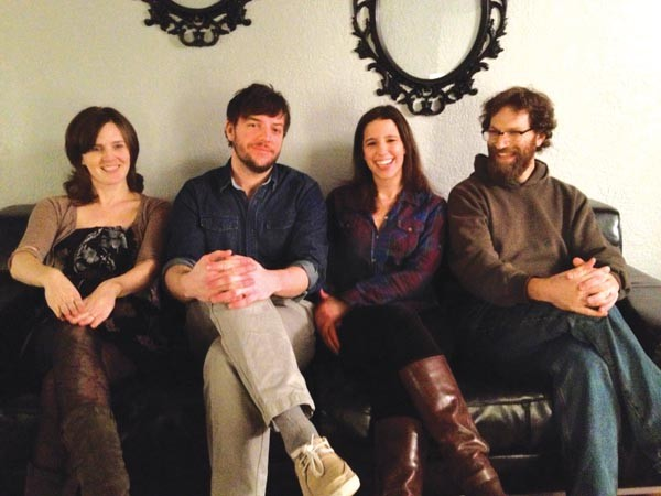 Down-tempo, not depressing: Arlo Aldo (from left: Susanna Meyer, Brandon Forbes, Ariel Nieland and David Manchester)