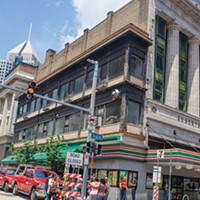 Narrow is the way: Downtown's Skinny Building, at Forbes and Wood