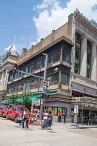 PHOTO BY RENEE ROSENSTEEL - Narrow is the way: Downtown's Skinny Building, at Forbes and Wood