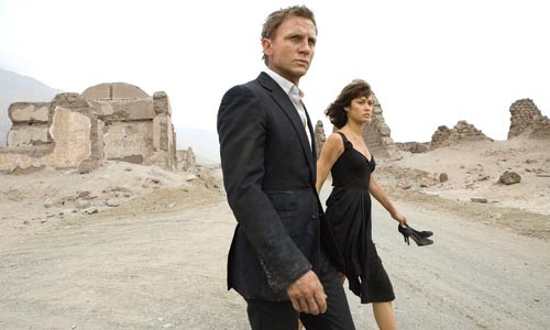 Dressed to kill: Daniel Craig and Olga Kurylenko