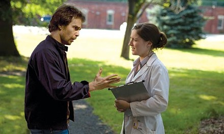 Dual (and dueling) nature: Sam Rockwell (left) and Kelly Macdonald.