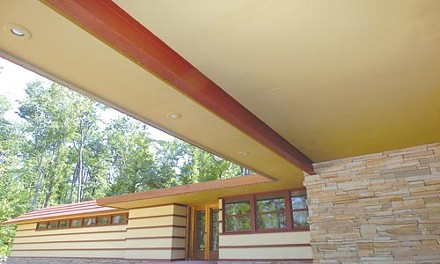 Duncan chic: A Frank Lloyd Wright carport. Photo courtesy of Polymath Park.