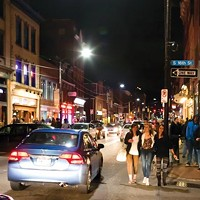 East Carson Street on a Saturday night.