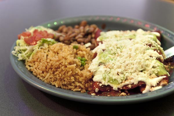 Enchiladas de pollo - PHOTO BY HEATHER MULL