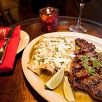 Reyna's Enchiladas Monterrey with steak Photo by Heather Mull