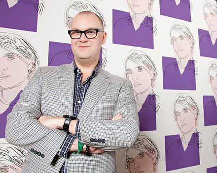 Eric Shiner: backed by Andy Warhol - PHOTO BY BRIAN KALDORF