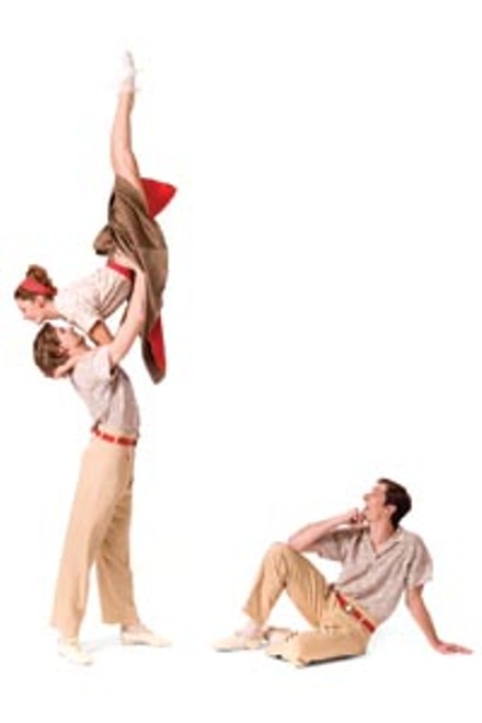 """Eva Trapp, Nicholas Coppula and Stephen Hadala in Paul Taylor's """"Company B,"""" from Pittsburgh Ballet Theatre - DUANE RIEDER"""
