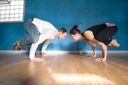 Facing off at Amazing Yoga on Ellsworth Avenue - PHOTO: HEATHER MULL