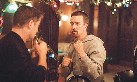 Family blues: Colin Farrell and Edward Norton