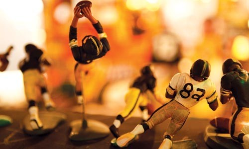 Fantasy football: Homemade collectible figurines by Denny DeLuca on display