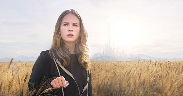 Field of dreams: Britt Robertson looks for the future.