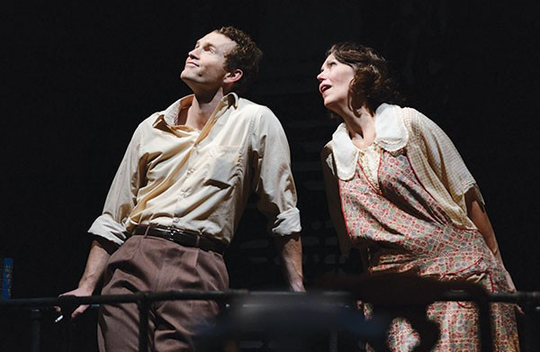 Fisher Neal and Lynne Wintersteller in The Glass Menagerie, Pittsburgh Public Theater