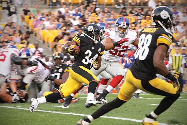 Former Pitt standout LaRod Stephens-Howling will provide quickness out of the backfield for the Steelers this season.