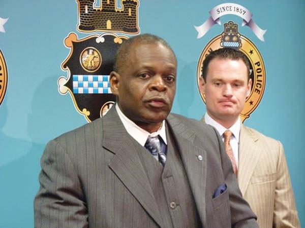 Former police chief Nate Harper, with Mayor Luke Ravenstahl