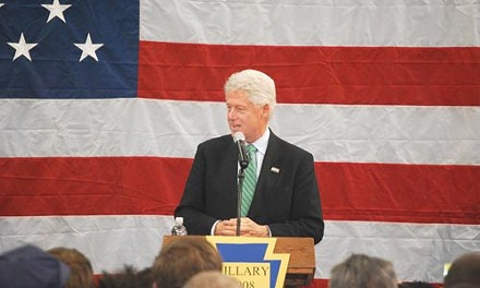 Former President Bill Clinton at a March 11 rally in Beaver County - CHARLIE DEITCH