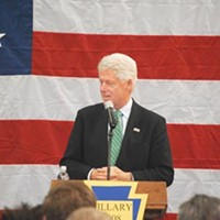 Former President Bill Clinton at a March 11 rally in Beaver County