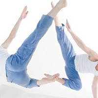Fresh angle: Christopher Bandy (left) and Michael Walsh perform in <i>Alloy on Alloy</i>.