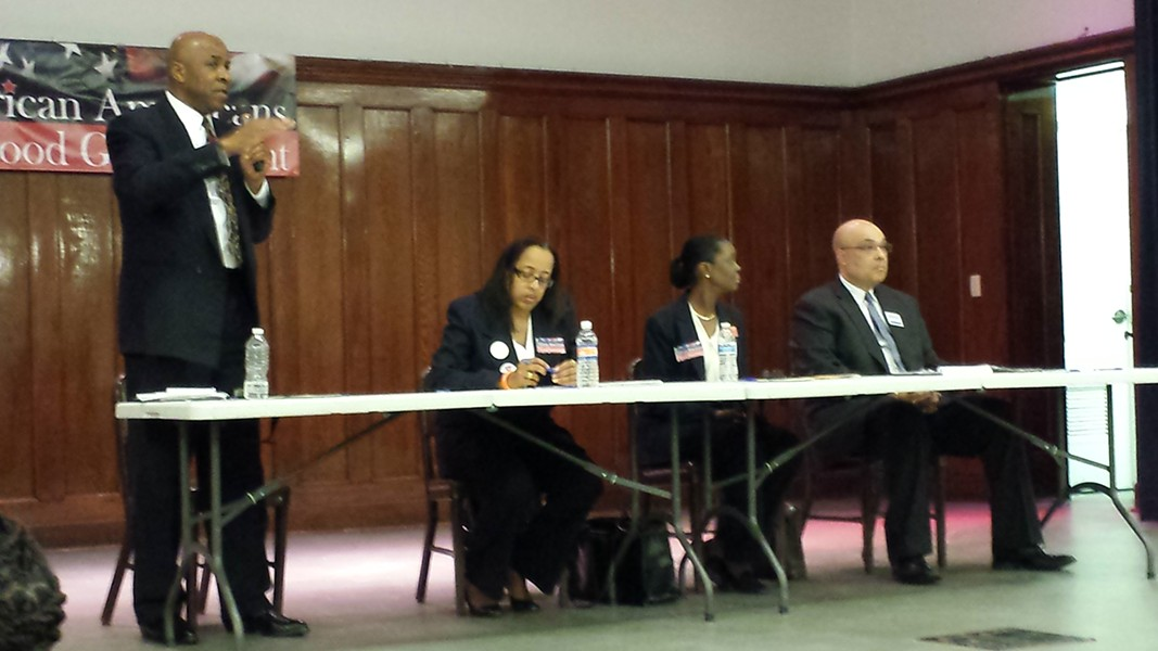 From left: Andre Young, Judith Ginyard, Twanda Carlisle, Ricky Burgess