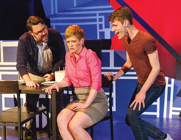 From left: Chad Elder, Cynthia Dougherty and Nick Black in Stage 62's Next to Normal - PHOTO COURTESY OF FRIEDMAN WAGNER-DOBLER